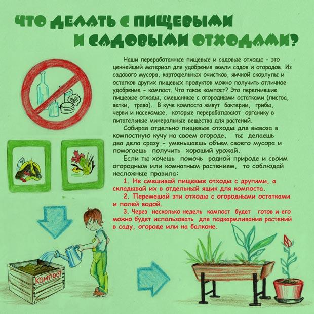 Как избавиться от мусора? Обучающий буклет для детей об обращении с твердыми бытовыми отходами. Страница 11. Что и как можно компостировать.